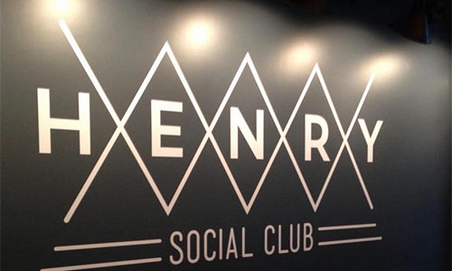Henry social club signage