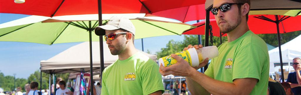 Farmers market lemonade slide